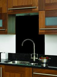 Black Glass Splash Back Indus