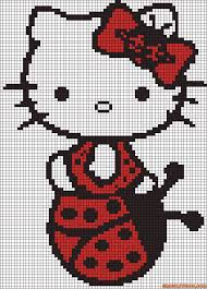 Halloween Perler Bead Projects by Hello Kitty Ladybug Perler Bead Pattern Cross Stitching