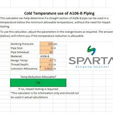 How Low Temperature Affects Steel A106B Piping Sparta Engineering