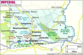 Imperial County Map Southern Ca With Cities Of In Images Maps X California