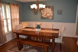 DIY Rustic Farmhouse Dining Room Table