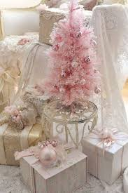 Subtle Christmas Tree In Pink Tiny Ornaments