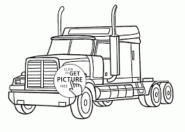 Semi Truck Coloring Pages With Peterbilt Coloring Pages Unique ...