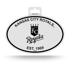 100 Kansas City Shipping Royals Oval Decal Sticker NEW 3 X 5 Inches Free Black White