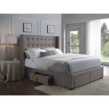 Skyline Velvet Tufted Headboard by Bedrooms Wingback Bed Skyline Furniture Reviews Raleigh