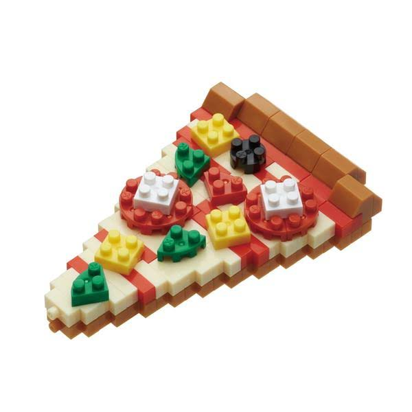Nanoblock Micro Sized Building Block Construction Toy - Pizza