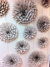 Wall Of Paper Flowers