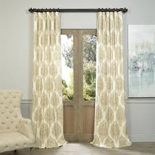 120 Inch Length Blackout Curtains by Exclusive Fabrics U0026 Furnishing Prtw D37b Arabesque Tan Printed