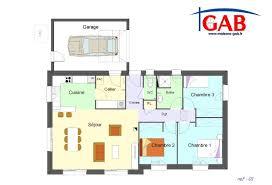 plan maison en l plain pied 3 chambres plan maison 3 chambres plain pied garage avie home plan maison 80m2