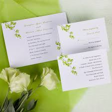 Affordable Modern Green Wind Bell Printable Wedding Invitations With Free Response Card
