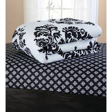 Bed Skirts Queen Walmart by Mainstays Classic Noir Bed In A Bag Bedding Set Walmart Com