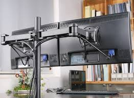 Desk Mount Monitor Arm Philippines by Duramex Dual Lcd Monitor Desk Mount Stand Fully Adjustable Upto 27