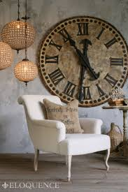 Room Large Patina Clock On Wall