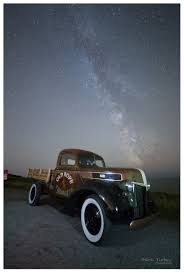 1941 Ford Pick-Up Under The Milky Way At Whitsand Bay. Truck Belongs ...