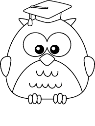 Graduate Owl Coloring Page By 10 Years Old Amp