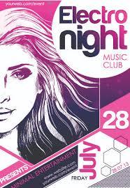 Music Club Poster Design Vector 04