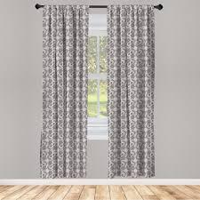 gardine fensterbehandlungen 2 panel set für wohnzimmer schlafzimmer dekor abakuhaus taupe russisch boho kaufen otto