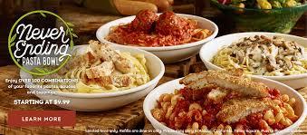 Olive Garden Never Ending Pasta Bowl $9 99