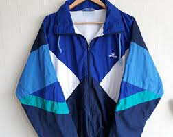 Retro Windbreaker 90s Men Medium Vintage Large Clothing Jacket