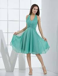 fashion trends bright turqoise halter top summer dresses for prom