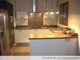cuisine marron et blanc photos décoration de cuisine américaine ouverte moderne design