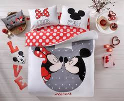 Queen Size Minnie Mouse Bedding by Disney Mickey U0026 Minnie Love Queen Bed Cover Set Inside The Magic