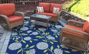 polypropylene patio mat 9 x 12 outdoor enchanting outdoor patio rug blue and outdoor rug