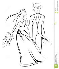 Bride And Groom Stock Vector Illustration Of Enjoyment