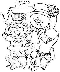 Kindergarten Winter Coloring Sheets