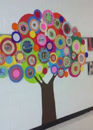 Would Love To Do This In The Hallway By My Classroom Door Thinking Of Putting Kids Pictures Some Circles For Our Family Tree