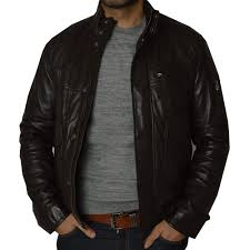 mens brown leather jackets by ashwood the shirt store