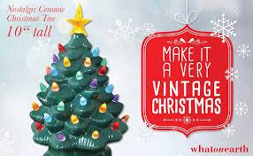 Clear Bulbs For Ceramic Christmas Tree by Amazon Com Nostalgic Ceramic Christmas Tree Led Lighted Mini