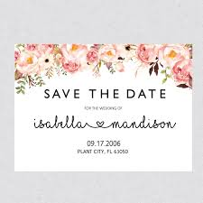 Printable Save The Date Template Card Floral