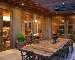 Mediterranean Classic Home Style That Attracts Your Attention Rustic Outdoor Dining Table