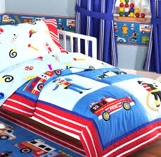 rescue heroes fire truck police car toddler crib bedding 4pc cool