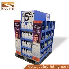 Cosmetic Retail Pop Pallet Display Shelf Cardboard Stand