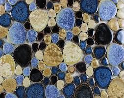 porcelain pebble tile glazed ceramic mosaic jh6655 bravotti