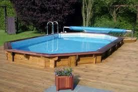 piscine semi enterree bois on decoration d interieur moderne idees