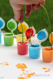 Painting With Flowers Simple Preschool Art Activities
