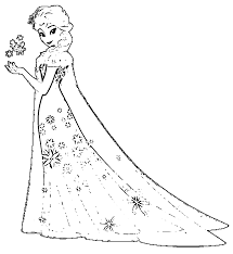 Fever Elsa G Coloring Page