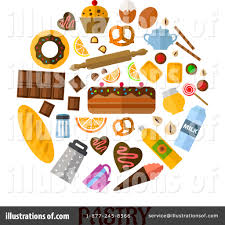 Royalty Free RF Pastry Clipart Illustration by Vector Tradition SM Stock Sample