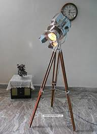 designer nautical spot light tripod floor l searchlight home