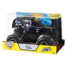 Hot Wheels Monster Jam 1:24 Scale Die Cast Official Monster Truck ... Hot Wheels Monster Jam Mega Air Jumper Assorted Target Australia Maxd Multi Color Chv22dxb06 Dashnjess Diecast Toy 1 64 Batman Batmobile Truck Inferno 124 Diecast Vehicle Shop Cars Trucks Amazoncom Mutt Dalmatian Toys For Kids Travel Treds Styles May Vary Walmartcom Monster Energy Escalade Body Custom 164 Giant Grave Digger Mattel