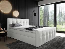 mirjan24 boxspringbett malibu bett mit zwei bettkästen stilvoll doppelbett farbe soft 017 größe 200x200 cm