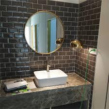 europäischen gold runde bad spiegel make up spiegel badezimmer wand hängen eisen spiegel lo68916