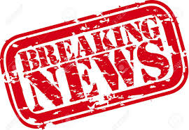 Grunge Breaking News Rubber Stamp Stock Vector