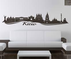 wandtattoo kiew skyline ukraine wand aufkleber wohnzimmer stadt 1m720 wandtattoos und leinwandbilder günstig mydruck store