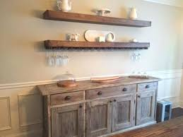 Dining Storage Cabinets Floating Shelves With Wine Glass Over Buffet In Room