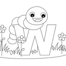Kids Learn Letter W Coloring Page