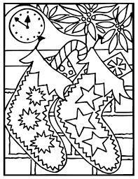 Christmas Stockings Coloring Pages To Print